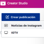 Make Good Art Facebook Creator Studio crear publicacion
